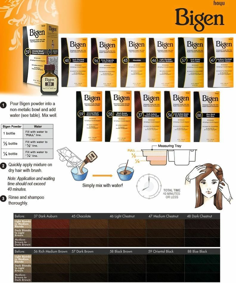 New Hoyu Bigen Permanent Powder Hair Color 11 Colors Available Ideas With Pictures