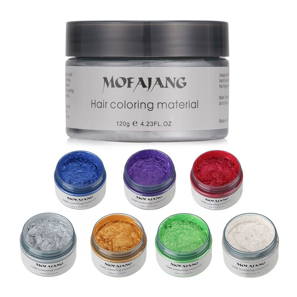 New Unisex Diy Hair Color Wax Mud Dye Cream Temporary Modeling Ideas With Pictures