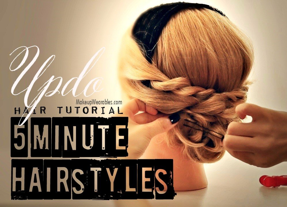 New 5 Minute Hairstyles Cute Easy Low Bun Updo Hair Ideas With Pictures