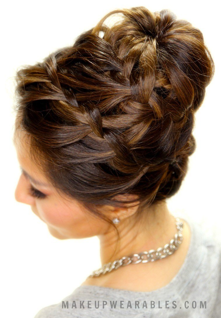 New Cute Braided Bun Hair Tutorial Updo Hairstyles For Short Ideas With Pictures