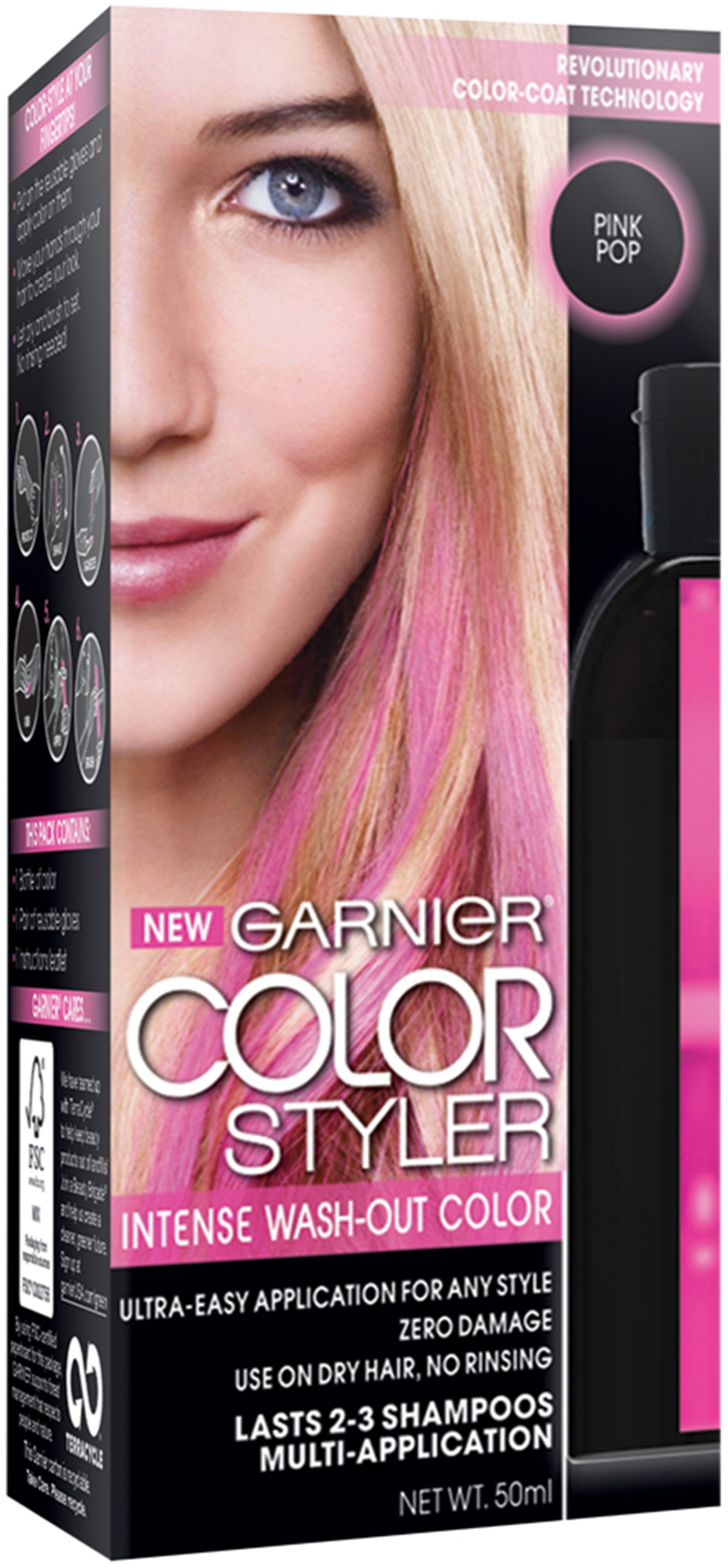 New Garnier Color Styler Intense Wash Out Haircolor Pink Pop 1 Ideas With Pictures