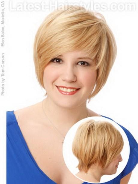 New Short Hairstyles For Thick Hair And Round Face Ideas With Pictures