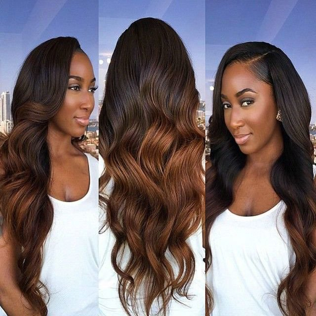 New Grade 7A Brazilian Body Wave 3Pcs Lot Ombre Two Toned Ideas With Pictures