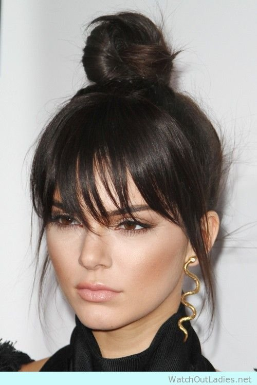 New Top Bun And Bang Hairstyle To Score Hairgoals – Watch Out Ideas With Pictures