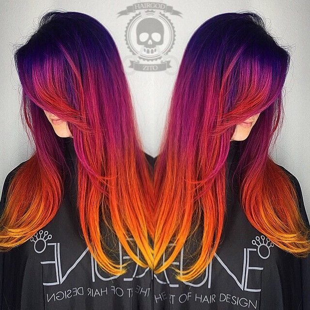New Sunset Hair Is The Most Beautiful Ombre Hair Tint We Ve Ideas With Pictures