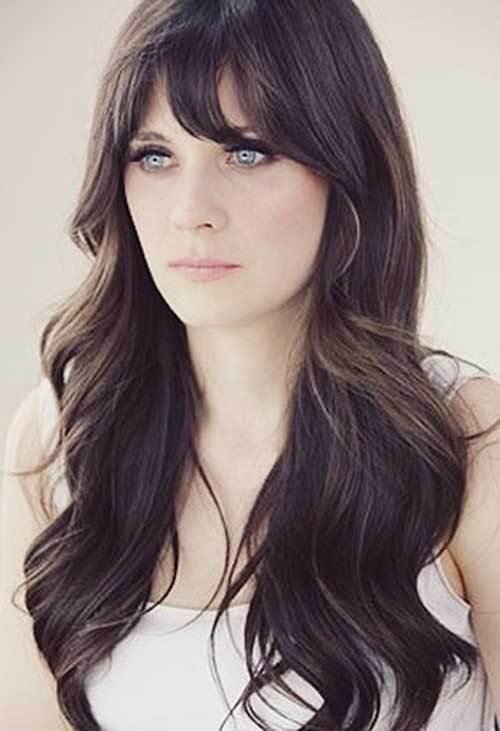 New 25 Hairstyles With Long Bangs Hairstyles Haircuts 2016 Ideas With Pictures