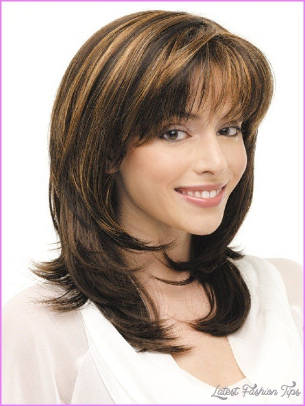New Medium Length Haircuts No Bangs Layers Latestfashiontips Ideas With Pictures