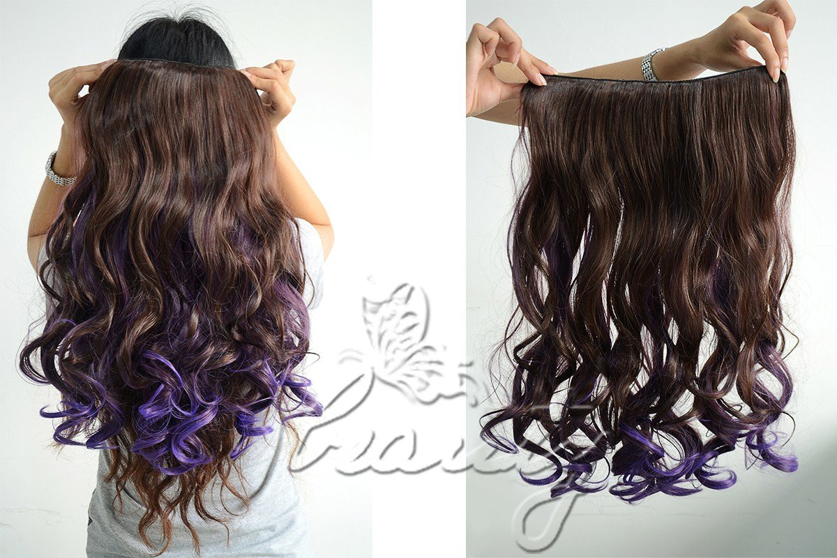 New One Piece Pastel Ombre Gradient Color Weft Clip In Ideas With Pictures
