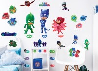 PJ Masks Removable & Reusable Wall Stickers Walltastic
