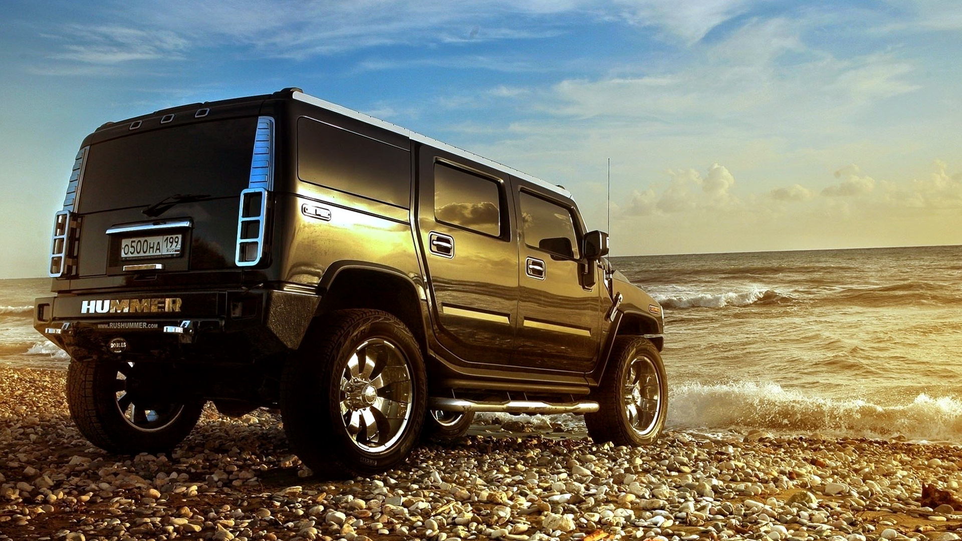 Black Hummer Beach Wallpapers HD Desktop and Mobile Backgrounds
