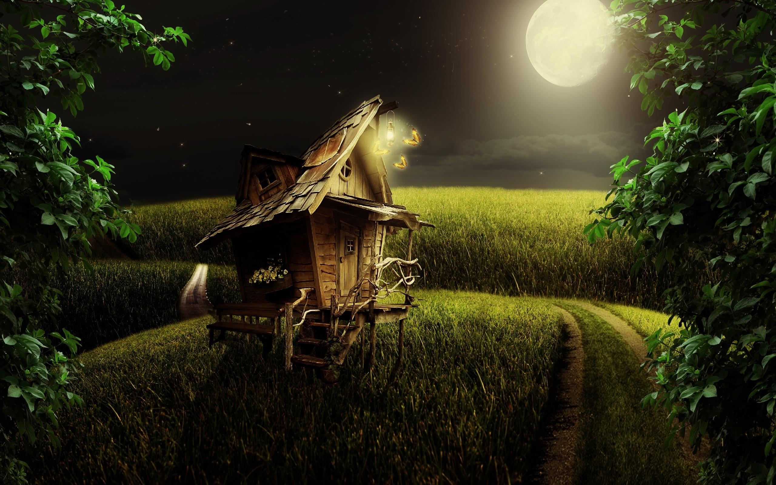 Epic 3d Movie Wallpapers Moonlight Field House Wallpapers Hd Desktop And Mobile