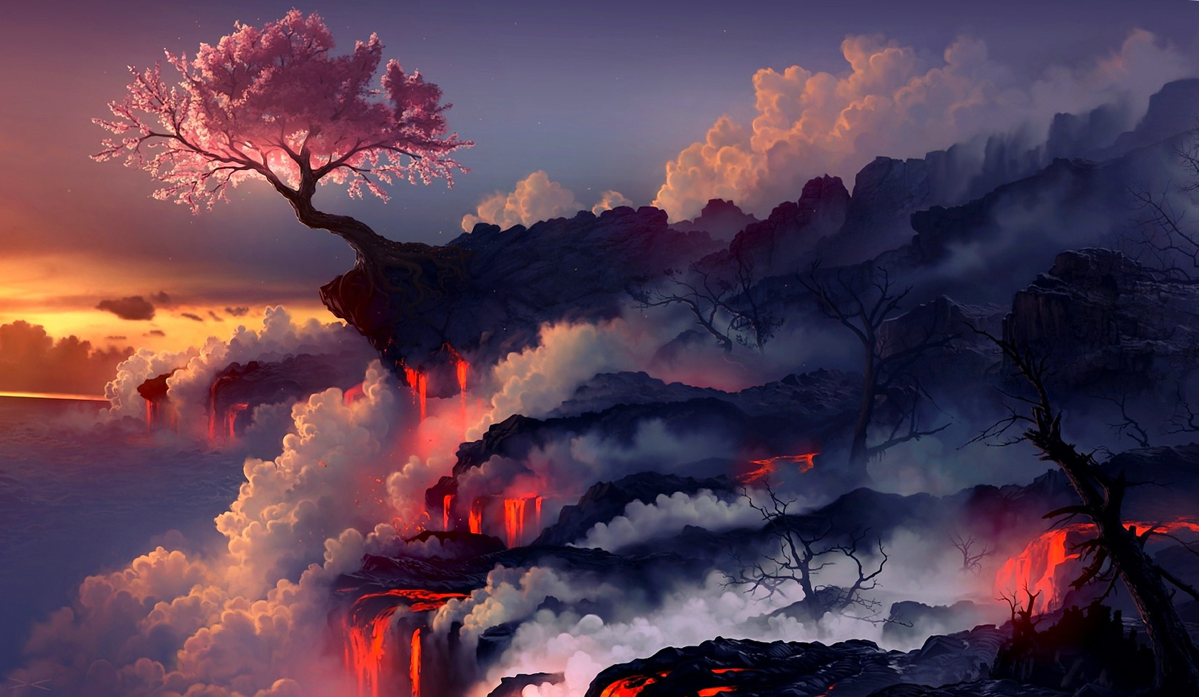 Epic Movie Hd Wallpapers Digital Cherry Tree Landscapes Wallpapers Hd Desktop And