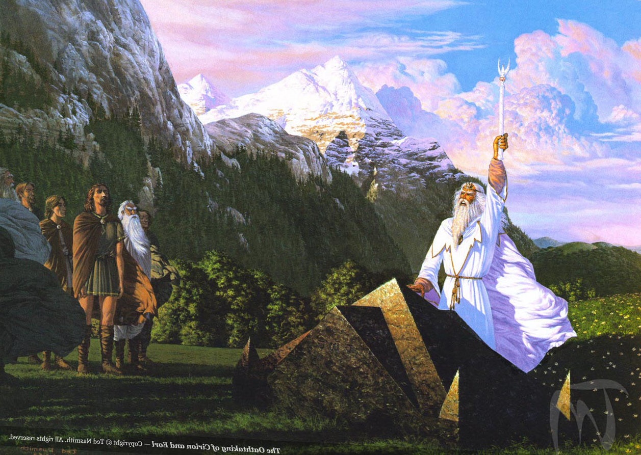 Cool 3d Art Wallpaper The Oathtaking Of Cirion And Eorl By Ted Nasmith