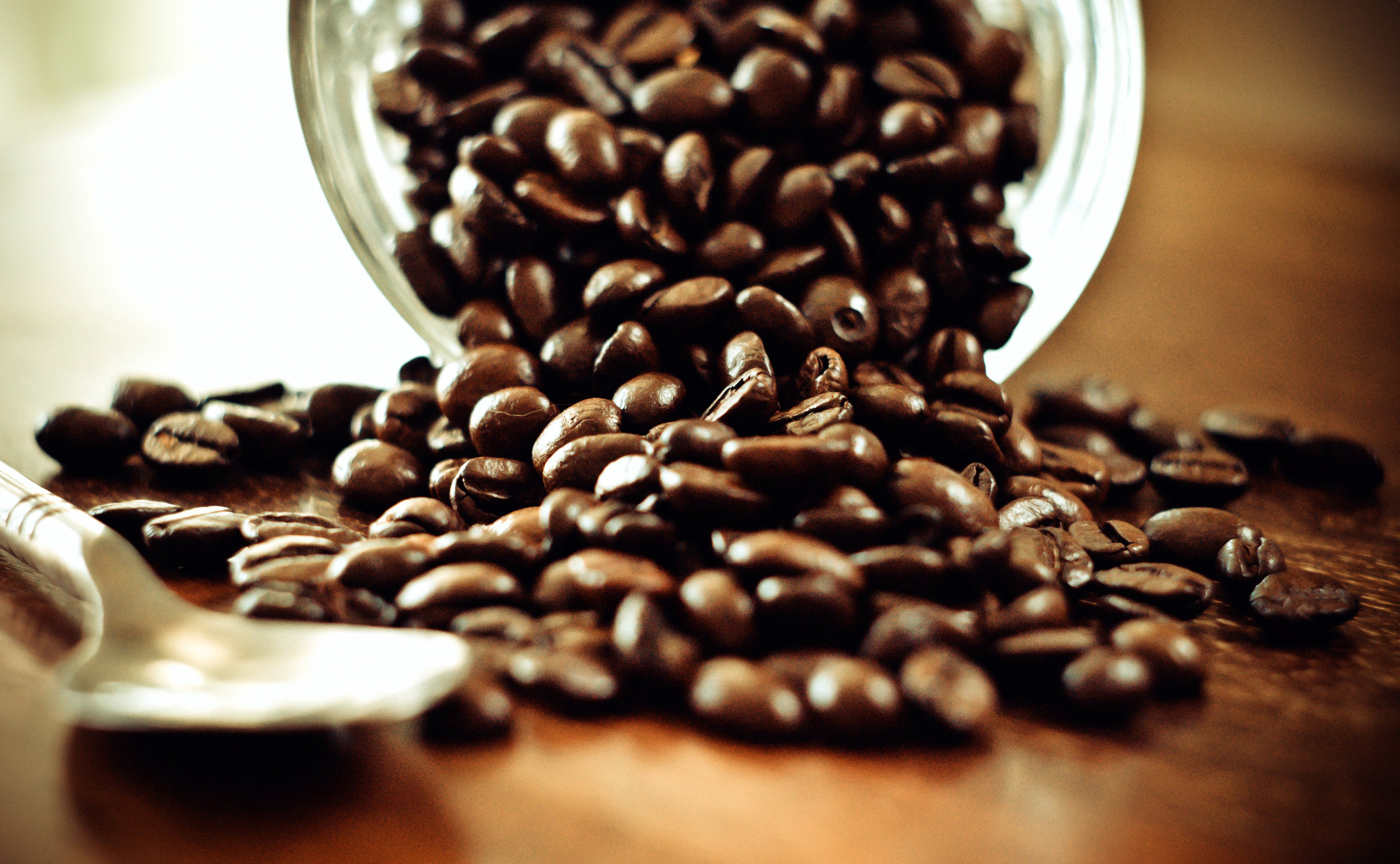 Coffee Cute Wallpapers Coffee Beans And Spoon Wallpapers Hd Desktop And Mobile