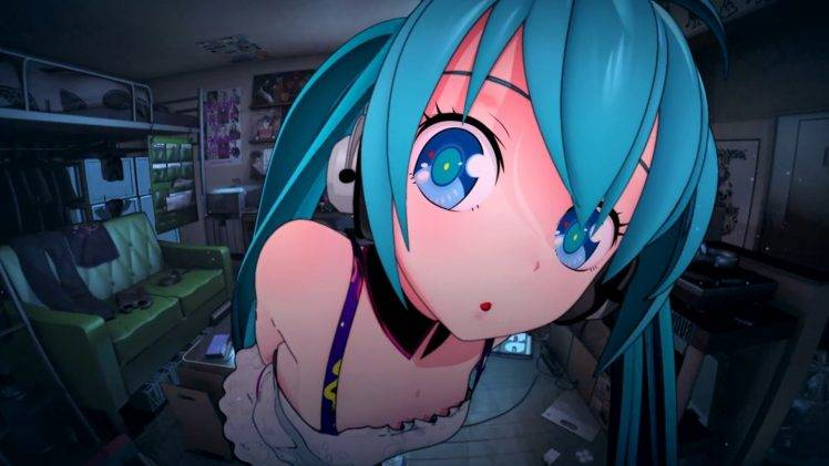 Dreamscene Girl Wallpaper Anime Hatsune Miku Vocaloid Anime Girls Wallpapers Hd