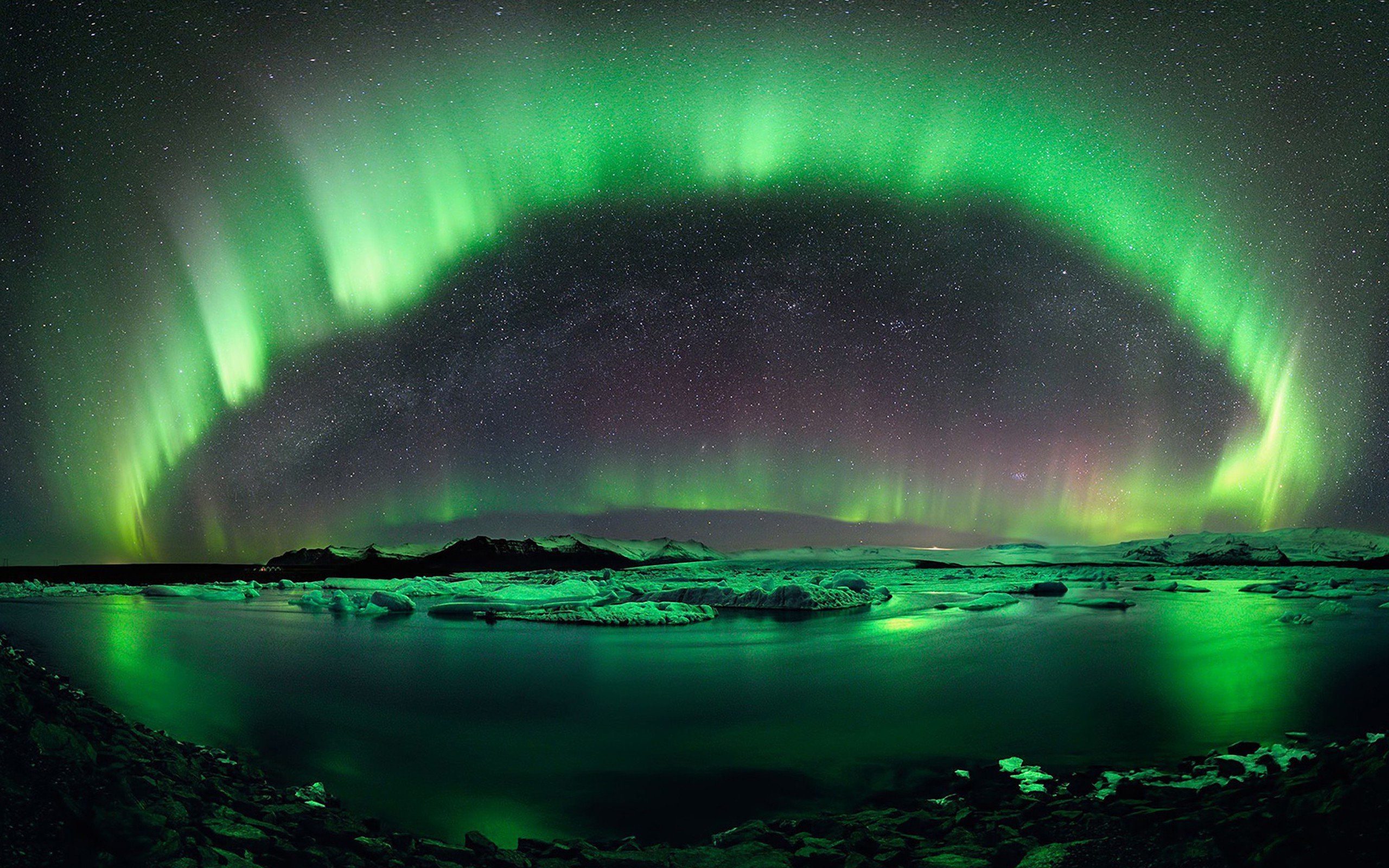 4k Wallpaper 3d National Geographic Nature Landscape Aurora Vetter Iceland Green
