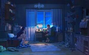 anime dark summer everlasting moonlight cyberpunk characters arsenixc desktop wallpapers background castle concept backgrounds sky ghibli px wallup screen tags