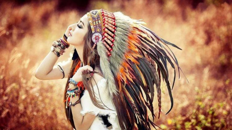 Smoking Girl Full Hd Wallpaper Native Americans Brunette Anime Headdress Wallpapers Hd