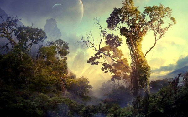 Alien Jungle Planet Landscape