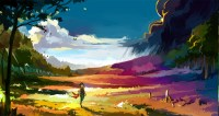 anime, Landscape, Colorful Wallpapers HD / Desktop and ...