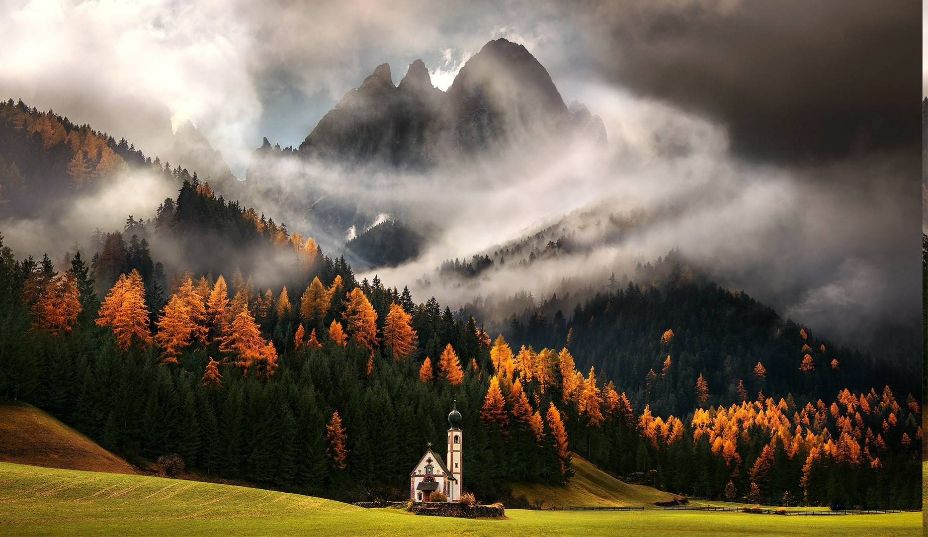 Fall Wallpaper Hd 1920x1080 Nature Landscape Mountain Forest Italy Fall
