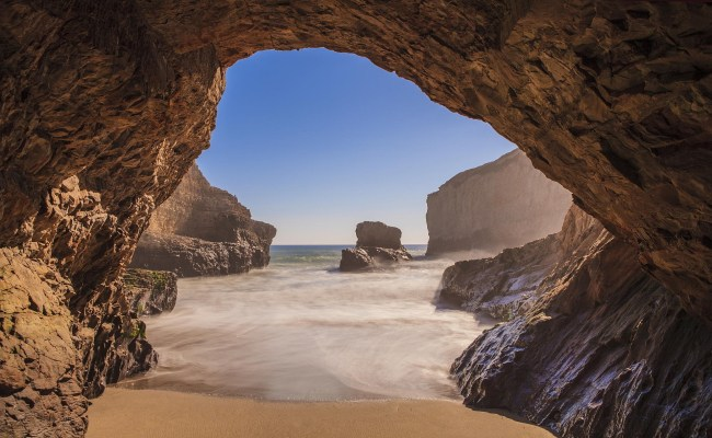 Beach Nature Landscape Sea Cave Wallpapers Hd