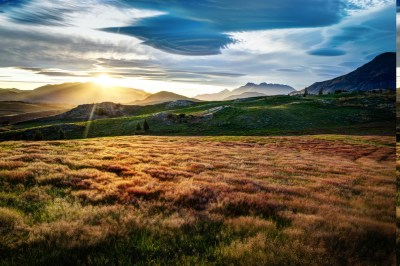 landscape, Mountain, Field, Clouds, Trees, HDR, Sunlight ...