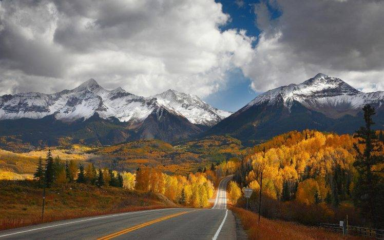 Fall Wallpapers For Desktop Idaho Landscape Nature Mountain Road Forest Fall Snowy