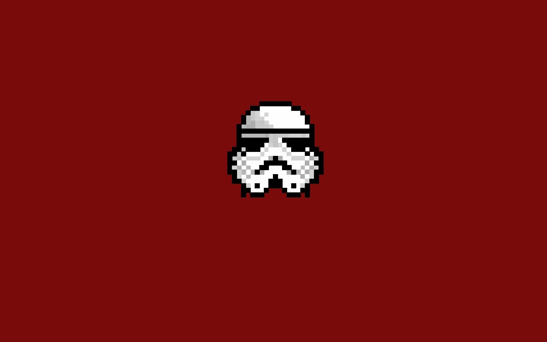 Cute Sugar Skull Wallpaper Stormtrooper Star Wars 8 Bit Pixel Art Minimalism