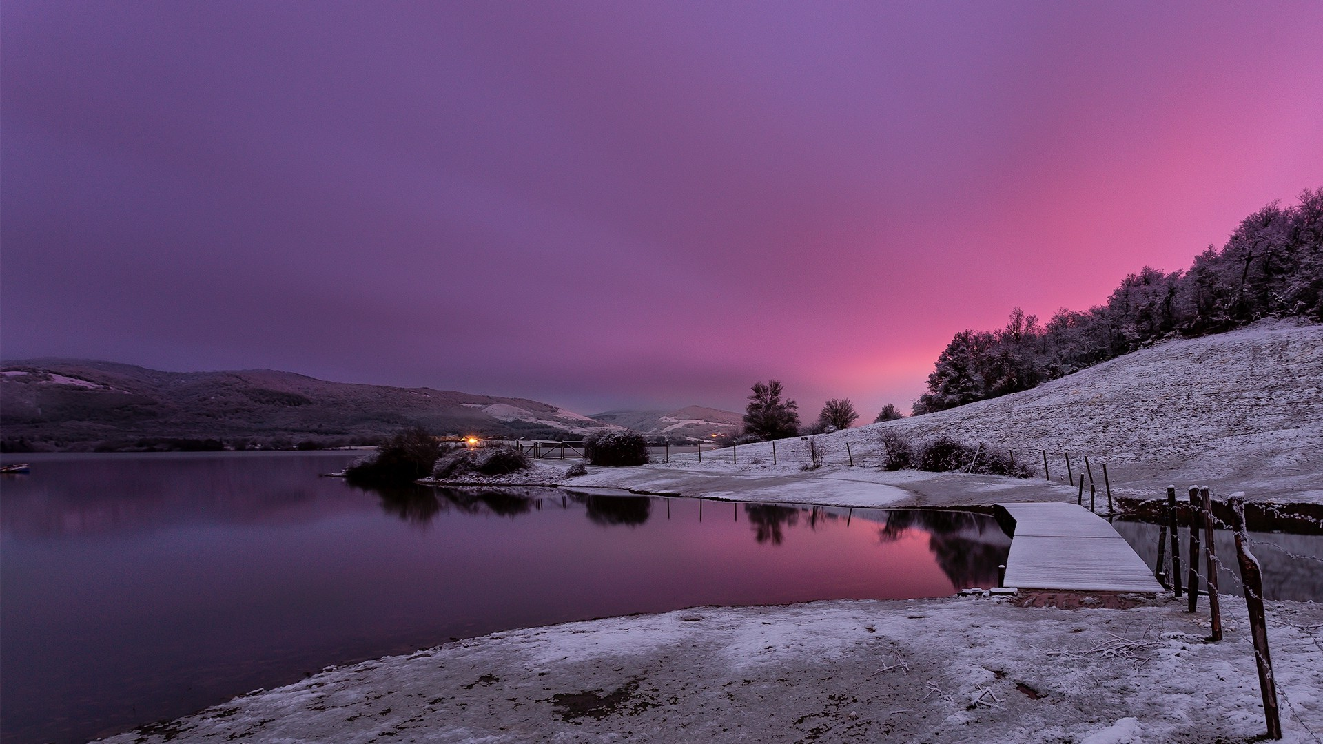 Free Animal Wallpaper Backgrounds Nature Landscape Water Trees Clouds Winter Snow