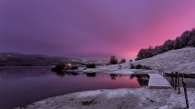 Nature Landscape Water Trees Clouds Winter Snow