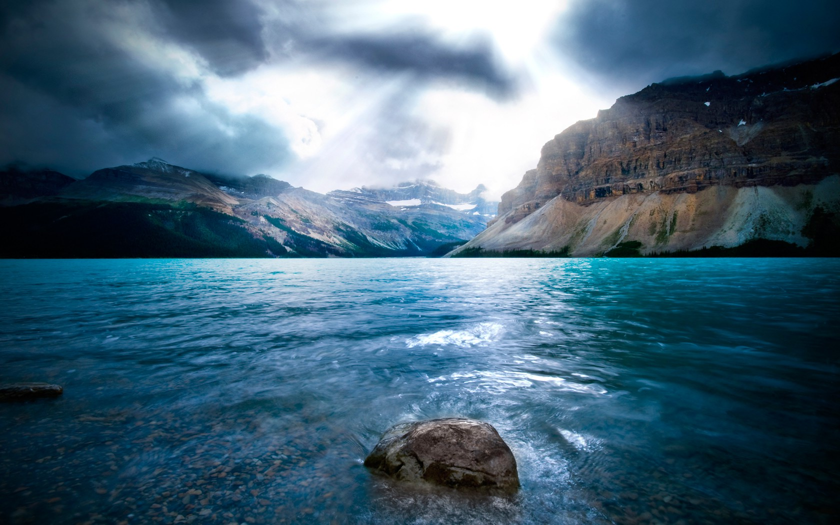 Fall Blessings Wallpaper Water Stones Sunlight Clouds Landscape Nature