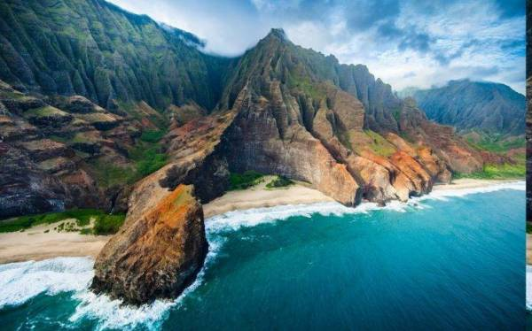 nature Landscape Aerial View Coast Beach Cliff Sea