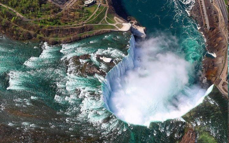 Niagara Falls At Night Wallpaper Hd Landscape Nature Aerial View Niagara Falls Canada