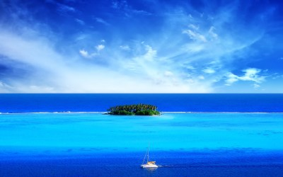 nature, Landscape, Island, Blue, Deserted Island ...