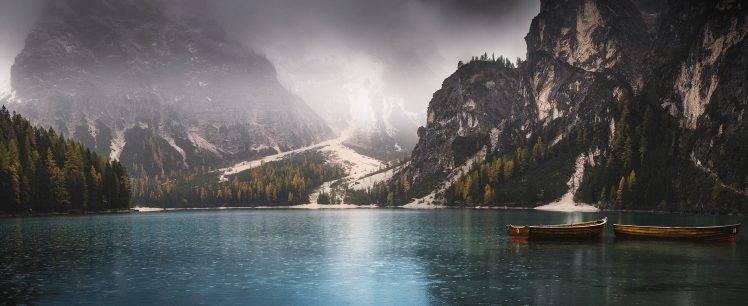 Colorado Fall Desktop Wallpaper Nature Landscape Panoramas Lake Fall Mountain Boat