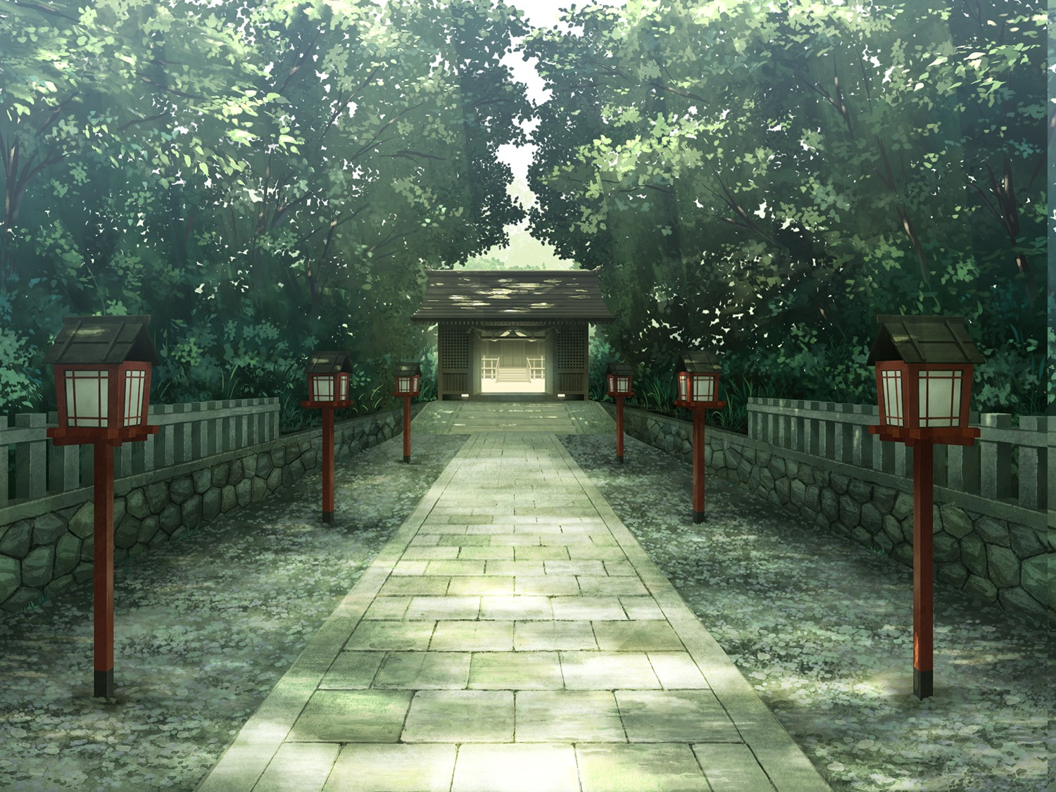 Trees Temple Anime Wallpapers Hd Desktop And Mobile