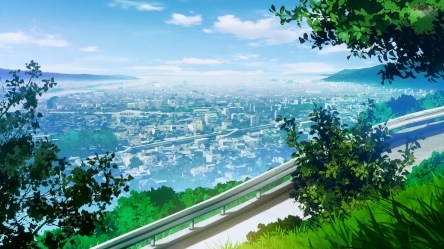 anime hd cityscape landscape backgrounds nature sky scenery wallpapers forest desktop daytime japan bird mountain computer views tree water