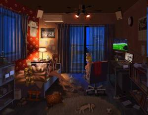 anime bedrooms curtains madrid vocaloid el pc luka classico megurine kagamine rin wallpapers interior background backgrounds desktop games