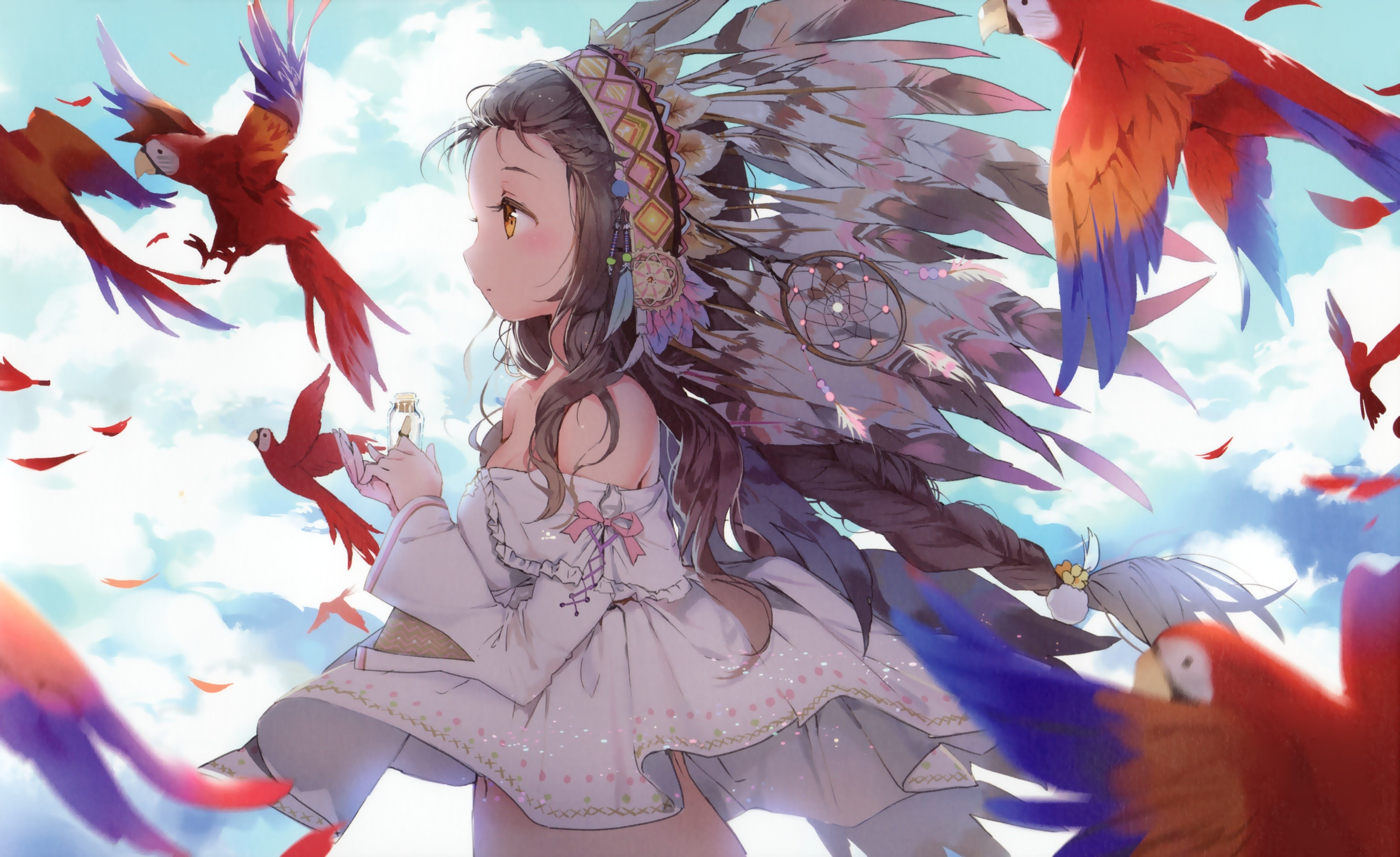 Cute Bow And Arrow Wallpaper Anime Anime Girls Original Characters Animals Birds