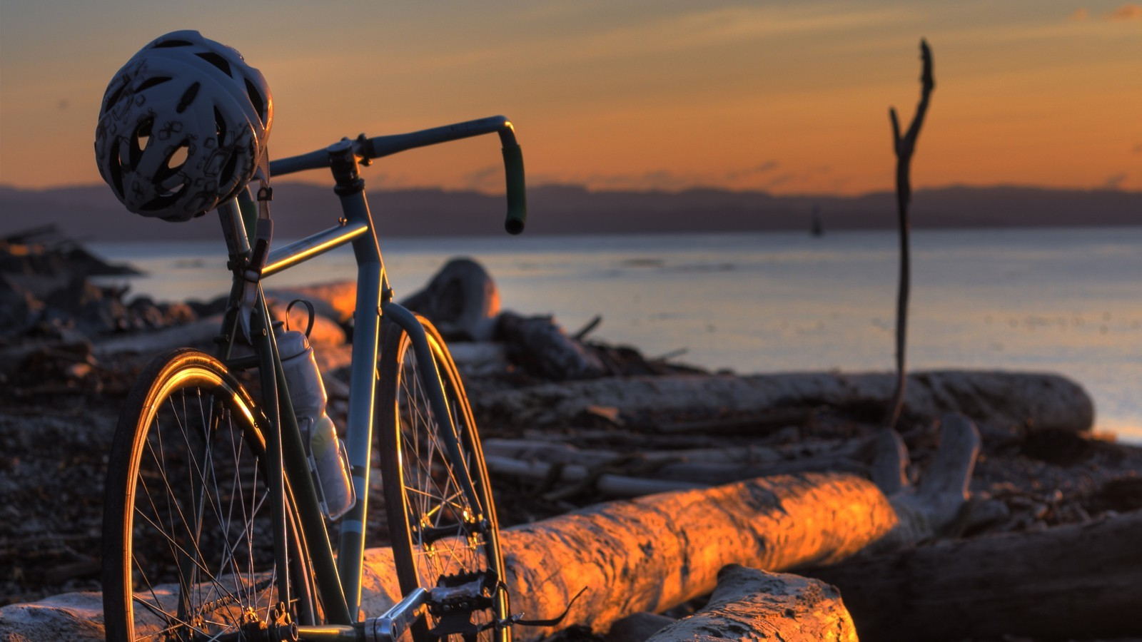 Girls With Bike Wallpapers For Mobile Bicycle Landscape Wood Wallpapers Hd Desktop And