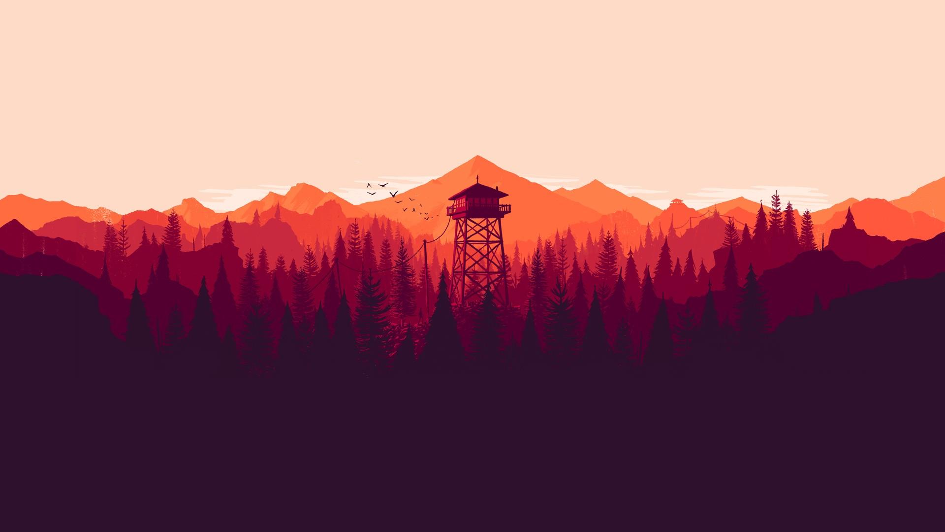 3840x1080 Pubg Wallpaper Landscape Artwork Firewatch Nature Minimalism Video