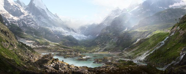 Thomas Galad Matte Paint Landscape Nature Mountain Valley Wallpapers Hd Desktop And