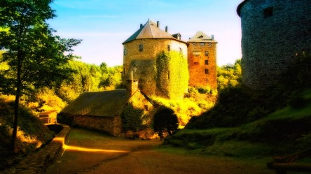 medieval landscape castle forest nature ivy sunset hd wallpapers background backgrounds desktop mobile screen px category wallup