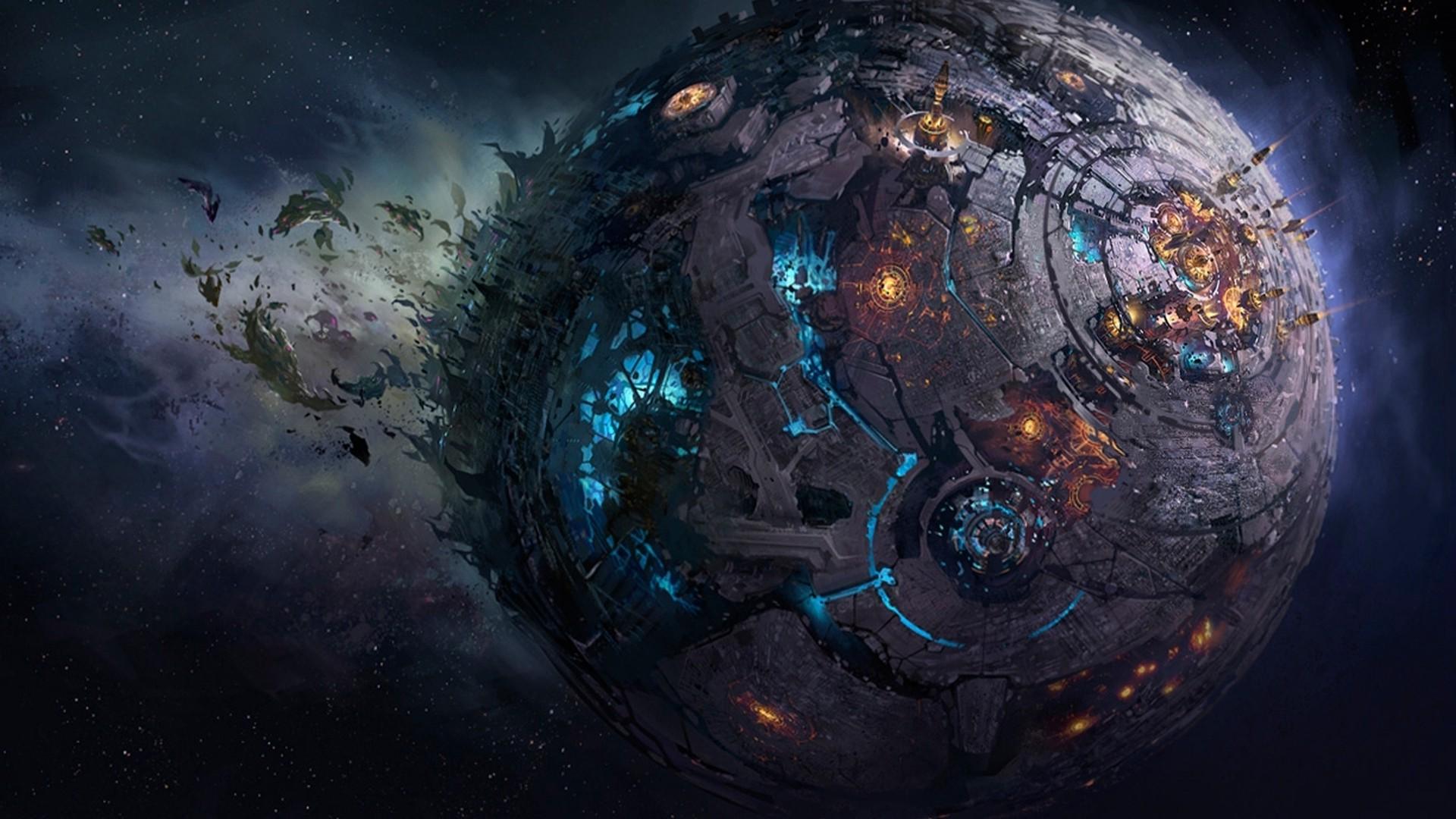 Fall Of Cybertron Wallpaper Artwork Fantasy Art Digital Art Planet City