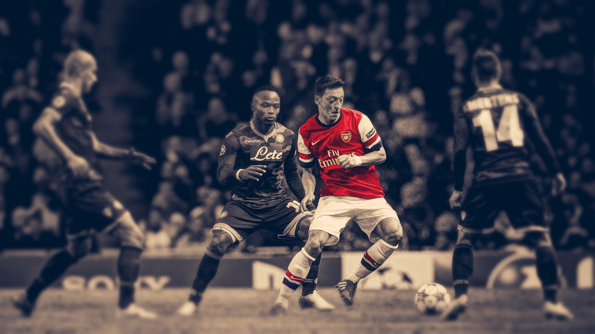 Mesut Ozil Wallpapers Hd Arsenal Soccer Hdr Arsenal Fc Mesut Ozil Selective Coloring