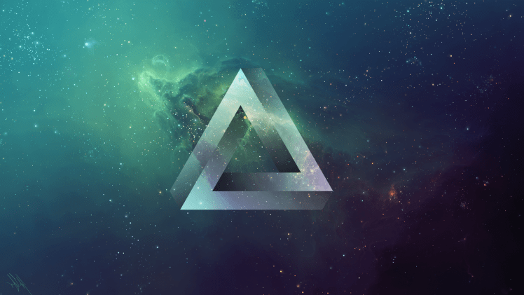 Gravity Falls Minimalist Wallpaper Triangle Space Tylercreatesworlds Penrose Triangle