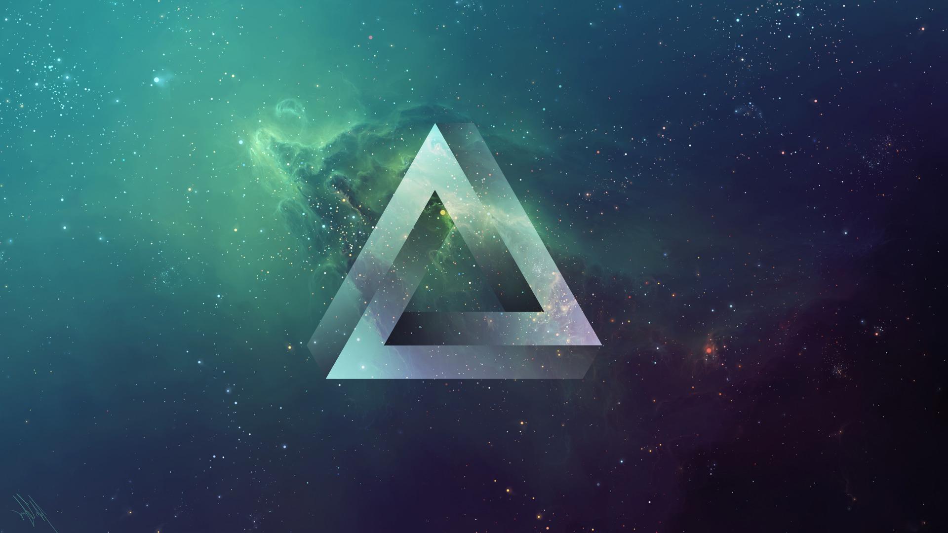 Minimalist Wallpaper Gravity Falls Triangle Space Tylercreatesworlds Penrose Triangle