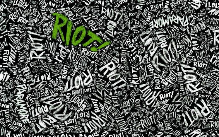 music paramore green typography