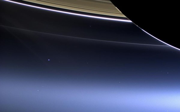 NASA Earth From Saturn